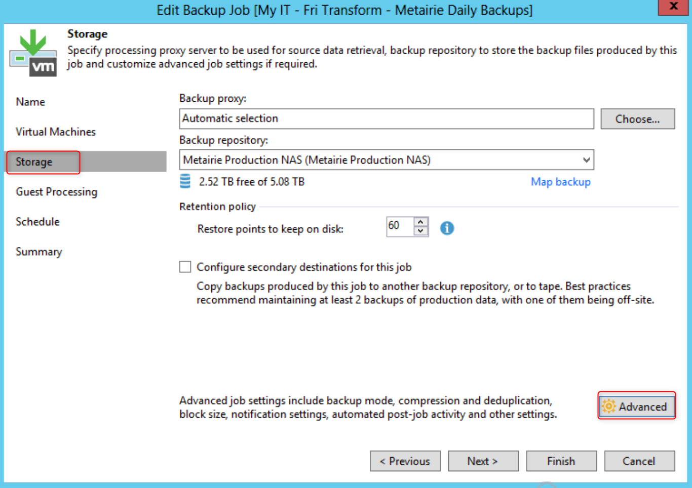 Use a Custom Job Name for Veeam Backup and Replication Job