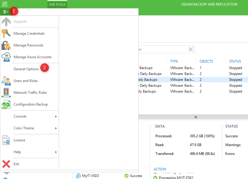 Setup Veeam Backup & Replication Email Notifications