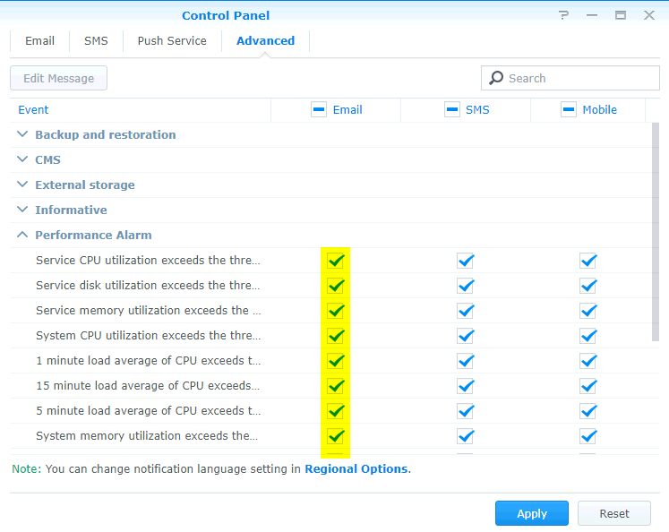 Setup Synology NAS Notifications – Backup Radar